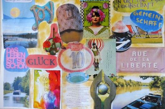 Collage-Schriftstellerin